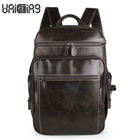 Men Backpack Leather UniCalling Luxury Men Backpack Fashion Genuine Leather Men Brand Backpack Real Cow Leather