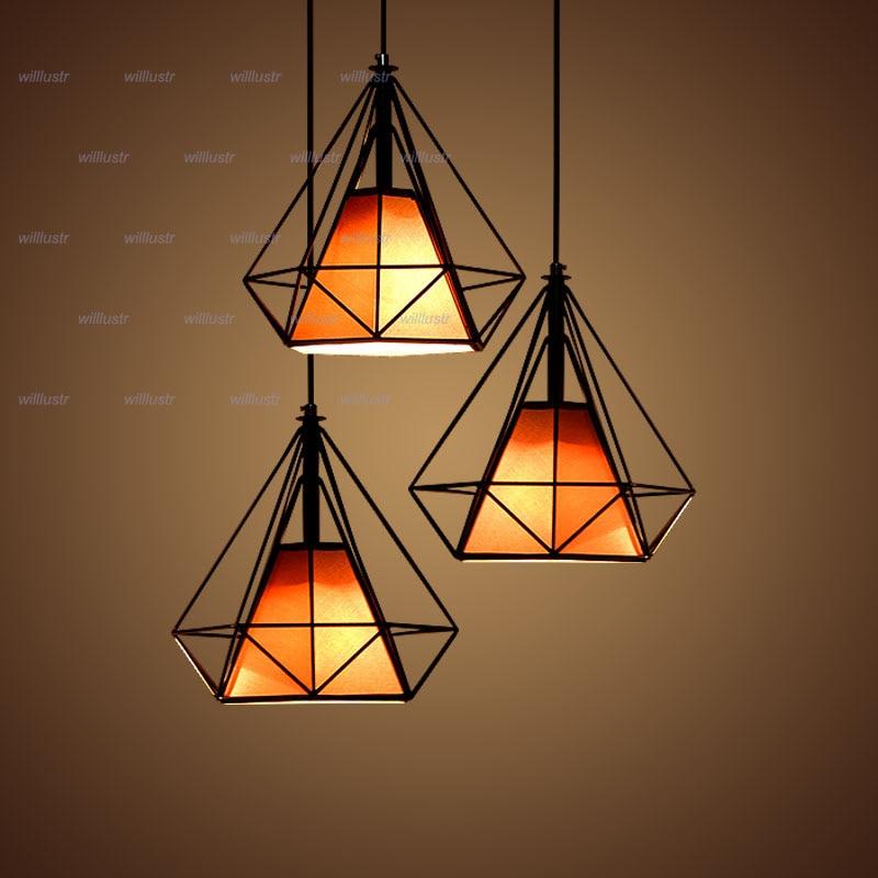 Aliexpress.com : Buy modern diamond shape lamp wrought ...