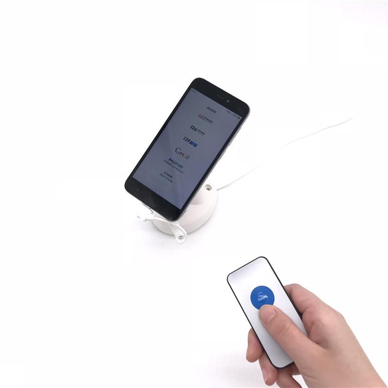 Controle remoto cor branca 3 m fixo suporte de alarme do telefone móvel com função de carregamento transporte por ar expresso