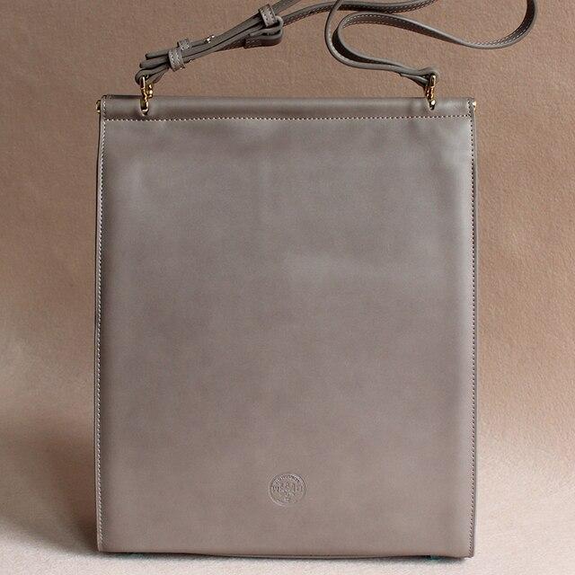 cowhide split leather women leather handbags shoulder bag big business grey  brief hard luxury handbags women bags designer b2469e8be03d8