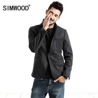 SIMWOOD 2017 New Arrival Brand Clothing Autumn Suit Men Blazer Fashion Slim Male Suits Casual Men