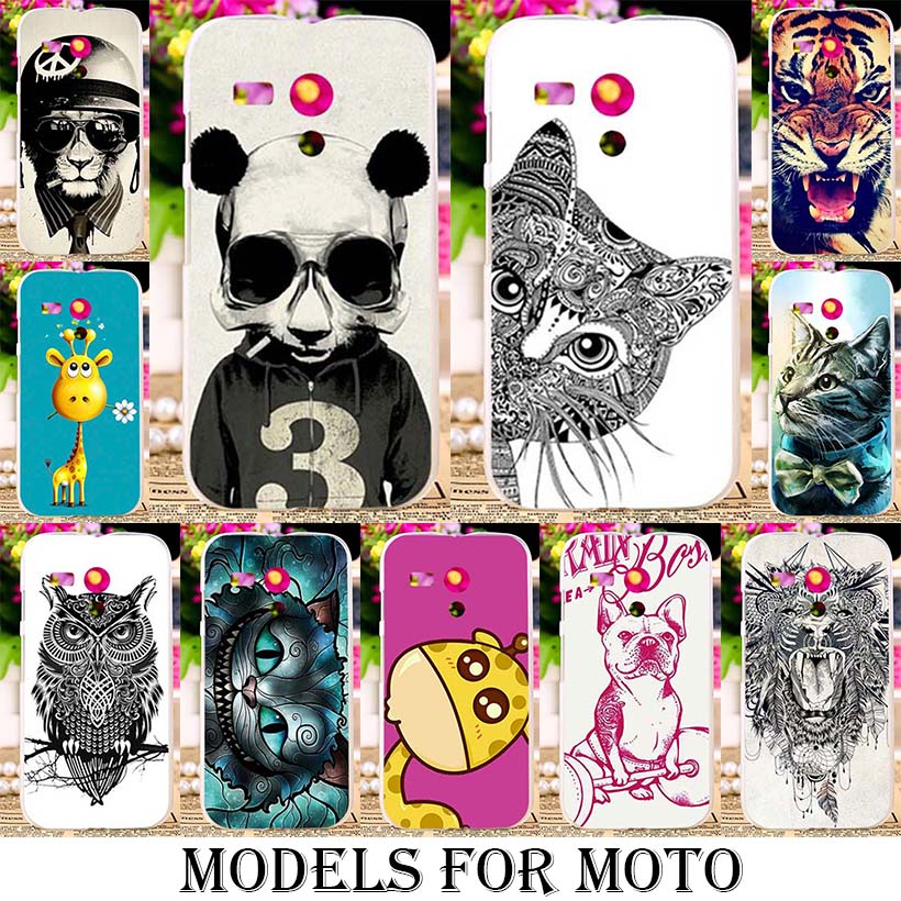 Silicone TPU Plastic Animal Cases For Motorola Moto G XT937C XT1028 G2 G3 G4 Plus X2 E 1st Gen XT1021 XT1063 XT1540 XT1625 Cover