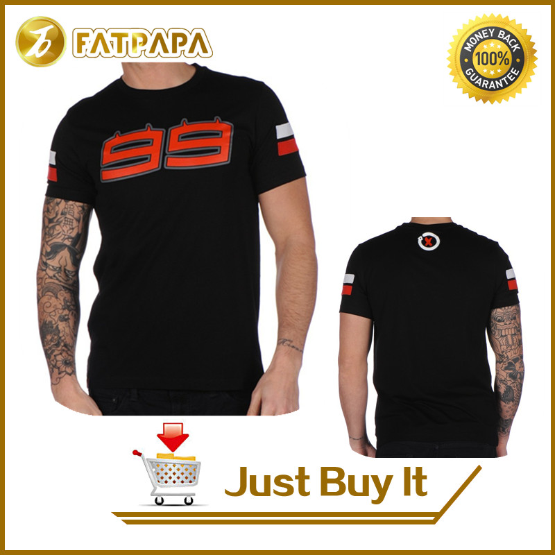 <font><b>NEW</b></font> <font><b>2017</b></font> Men's 100% cotton <font><b>summer</b></font> casual <font><b>fashion</b></font> Jorge Lorenzo 99 Large Logo Men's T-shirt <font><b>Moto</b></font> <font><b>GP</b></font> Racing <font><b>Summer</b></font> Black Tee
