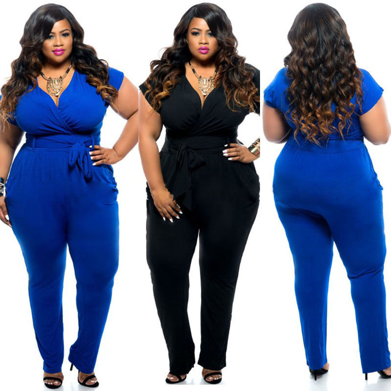 Popular Jumpsuits and Rompers Plus Size Women-Buy Cheap Jumpsuits ...