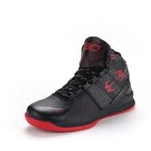 Уличной баскетбол сапоги pu обуви кроссовки красный мужчин белый