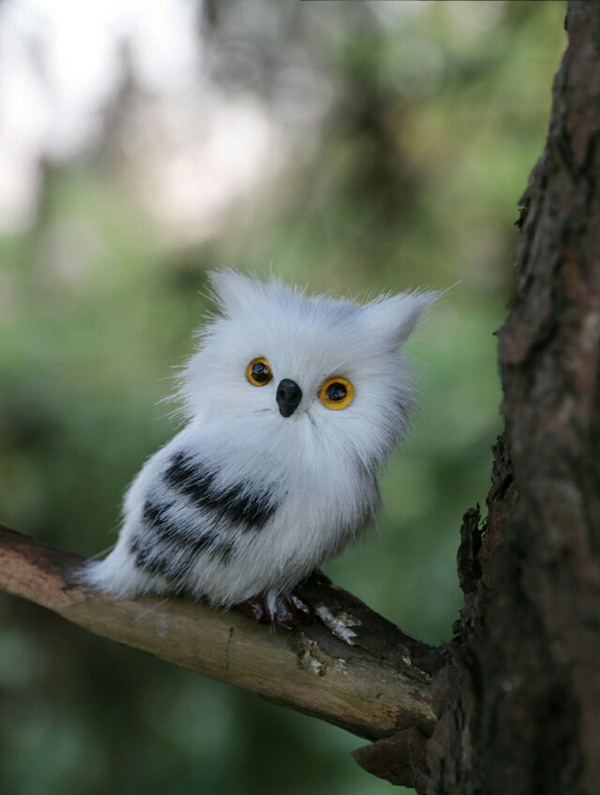 cute small simulation owl toy polyethylene&fur mini left