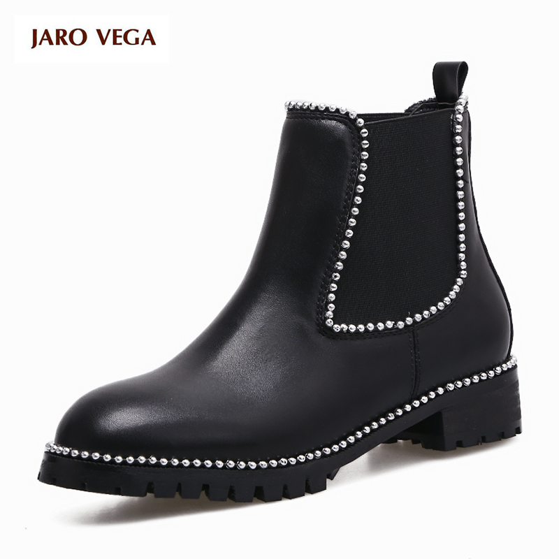 Hot sale 2017 new Women Ankle Boots Black Shoes Women Pearl Heel Round Toe British Fashion Square High Heel Boots Elastic band hot sale autumn winter shoes round toe fashion ankle women boots sheepskin all match square high heel
