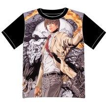 Envío Libre Death Note Anime manga T-shirt Las Mujeres de Los Hombres Cosplay Camiseta de Malla Negro Tee 006