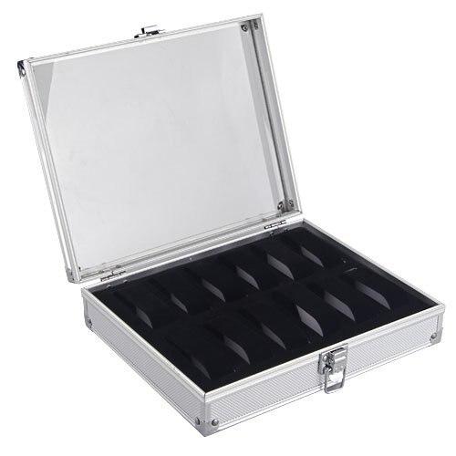 YCYS Aluminum 12 Wristwatch Watch ShowCase Display Storage Case Box