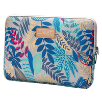 LISEN Laptop Sleeve Case 15 Inch Computer Bag Notebook For Ipad Tablet For MacBookGrey Blue Forest