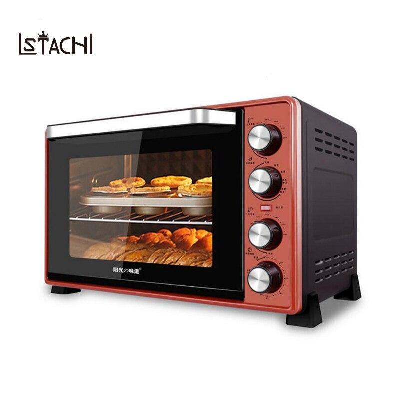 Four électrique multifonction LSTACHi 220V 45L 2000W faisant des biscuits de Pizza de pain pour le ménage Commercial