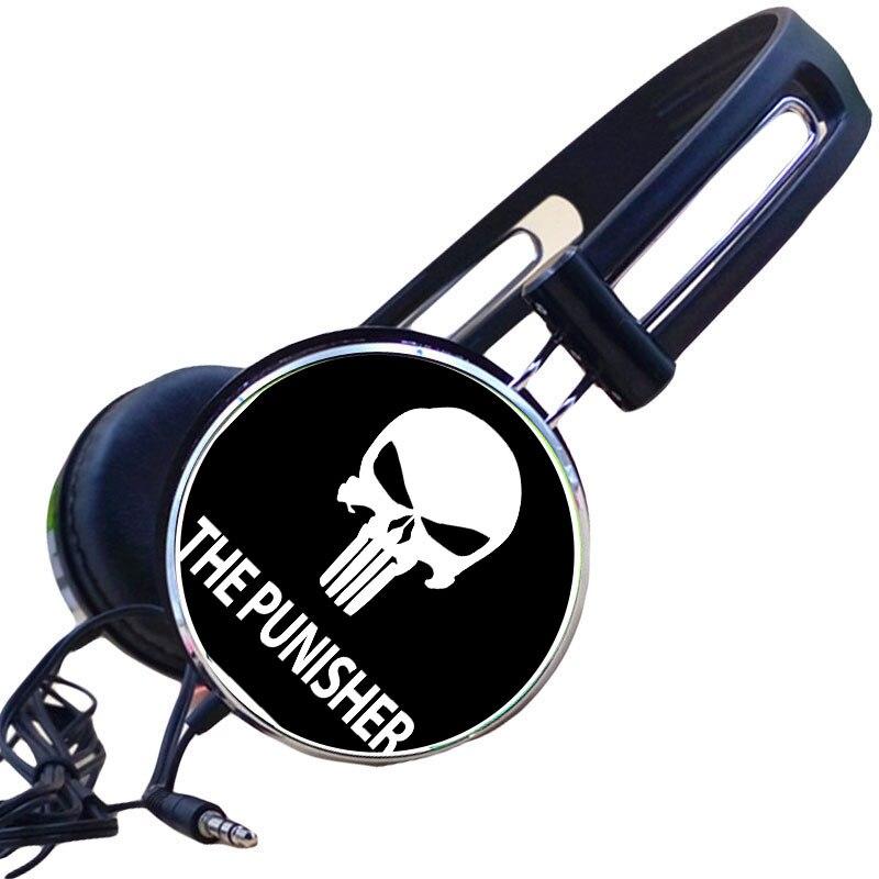 Custom Comics Amazing Spider-Man Frank Castle Skull Headphone Punisher Gaming Headset Stereo Headphones for Mobile Phone Mp3 PC
