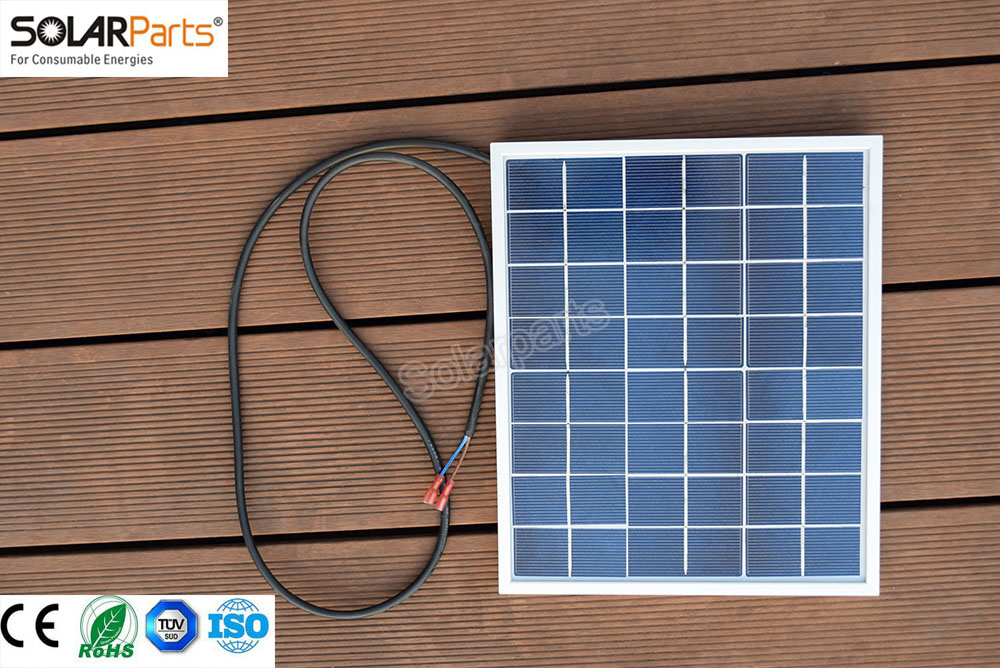 Solarparts 1x 10W polycrystalline solar panel module cell system 12V DIY kits for toys light led