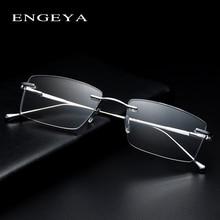 Metal Optical Men Glasses Transparent Square Fashion Brand Designer Prescription Eyewear Frames Elastic Hinge #IP378