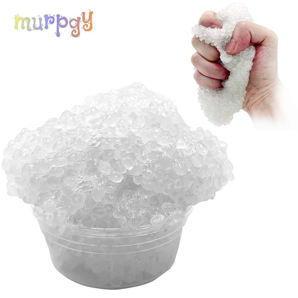 Slime DIY Crystal Lizun Rice Mud Foam Clear Fluffy Slime Dough AntiStress Sludge Toy Plasticine Modeling Clay for Kids