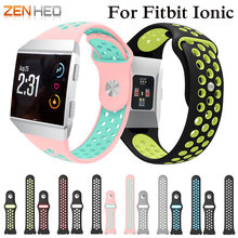 Silicone Strap Band For Fitbit Ionic Sport Bracelet Smart Watch Replacement Wristband Breathable Smarch Watchband 2