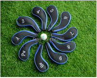 Free Shipping 10 Pcs Bag Golf Club Iron Covers Headcovers Neoprene Protector For Golf Sport
