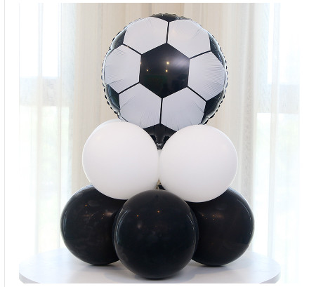Image 4 - 10pcs Green Football Soccer Theme Party Balloons Black White latex Balloon for Boys Birthday Games Toys Party Decor Supplies-in Ballons & Accessories from Home & Garden