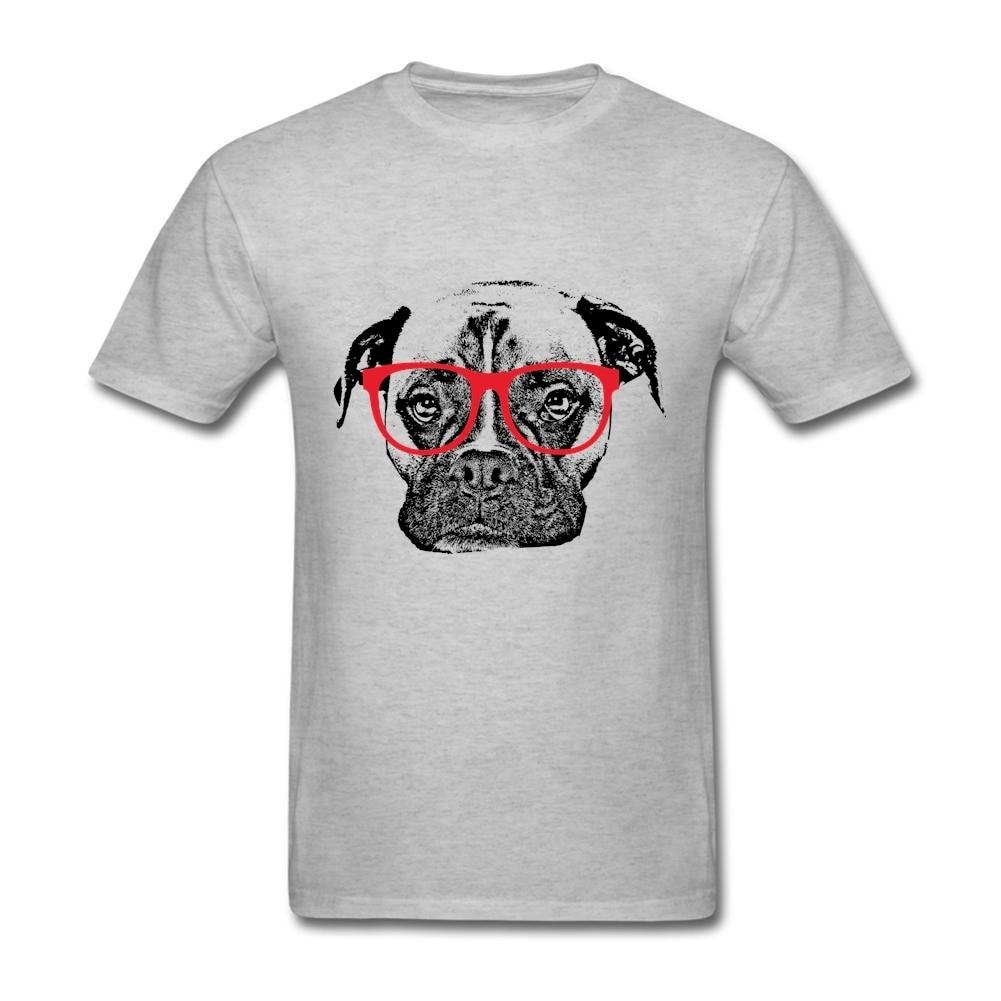 Design your own t shirt las vegas - Short Sleeve Cotton Custom Boxer Dog With Glasses T Shirt Order Couple Xxxl Design Your Own T Shirt