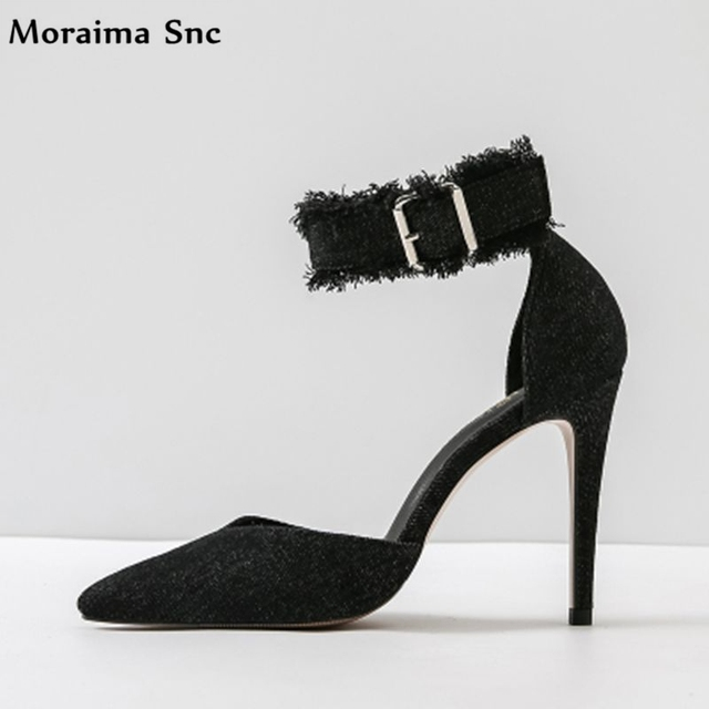 Moraima Snc Spring Autumn women sandals Ankle strap wide band ...