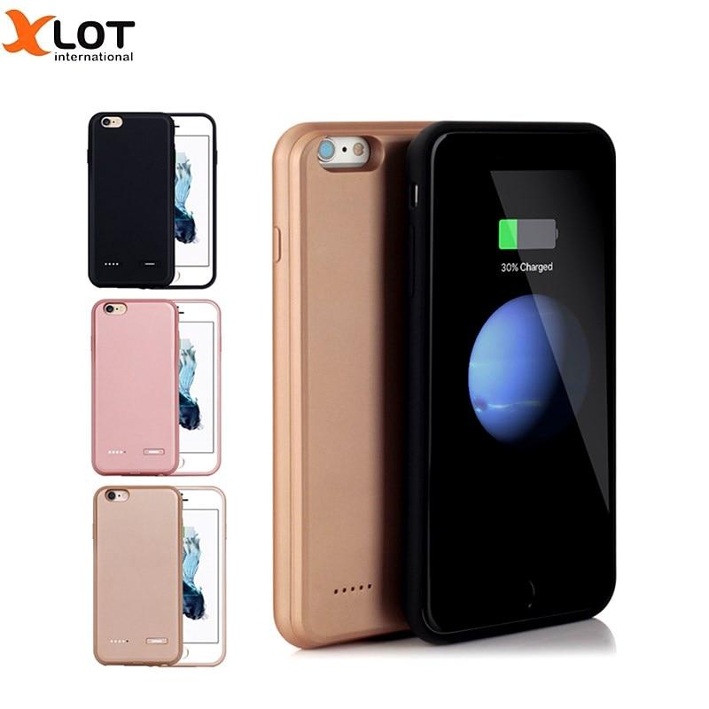 Цена за Внешний Батарея Зарядное устройство чехол ультра тонкий для iPhone 7 Plus 2500/3700 mAh Перезаряжаемые Мощность Bank Резервное копирование Пакет зарядный чехол