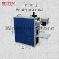 Возняк Multi function портативный лазерный маркер ЖК экран чип логотип металлический код индивидуальная оптическая волоконная лазерная гравиров