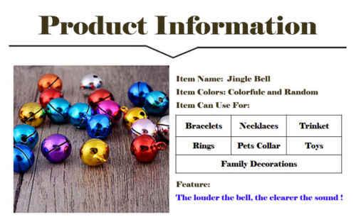 100 шт 12 мм колокольчики железные свободные бусины маленькие для праздника вечерние украшения/елочные украшения/DIY ремесла аксессуары