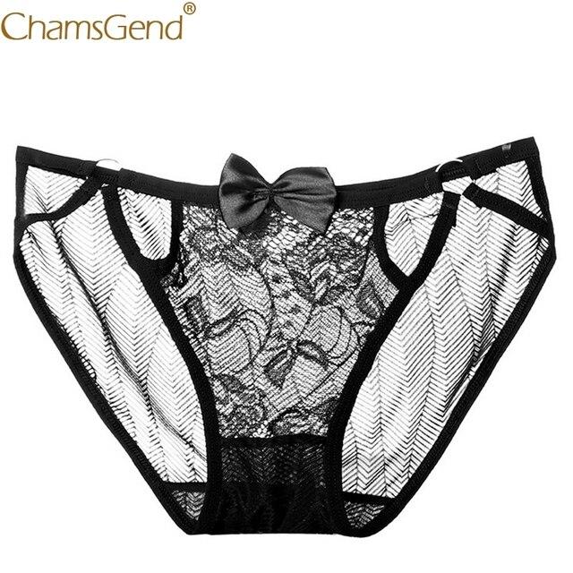 Chamsgend Wanita Pakaian Dalam Seksi Terlihat Renda Celana Ikatan Simpul Celana  Dalam Wanita Nyaman G String 6736654abd