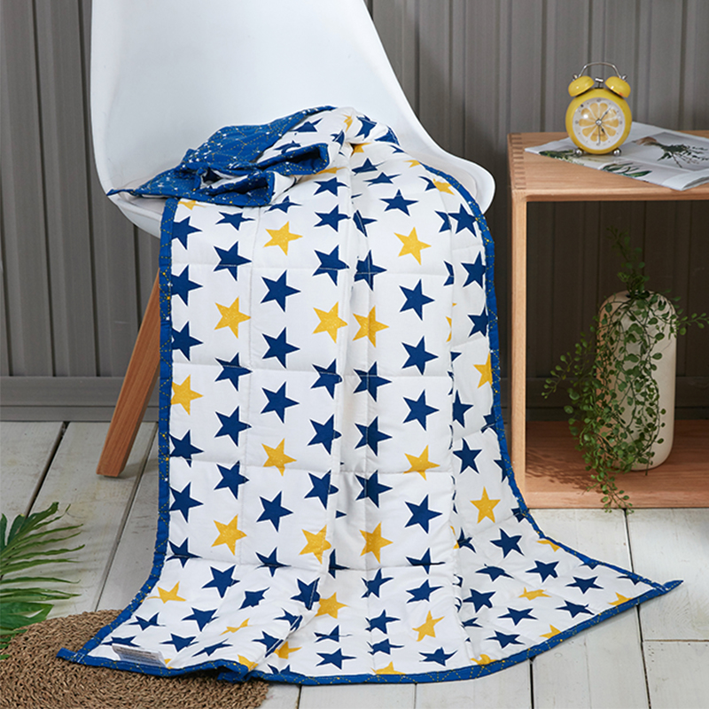 High Quality Cotton Cartoon Star Pattern Blue Child 90*120 Weighted Blanket Gravity Sleeping Blanket Decompression Quilt 1PCSHigh Quality Cotton Cartoon Star Pattern Blue Child 90*120 Weighted Blanket Gravity Sleeping Blanket Decompression Quilt 1PCS