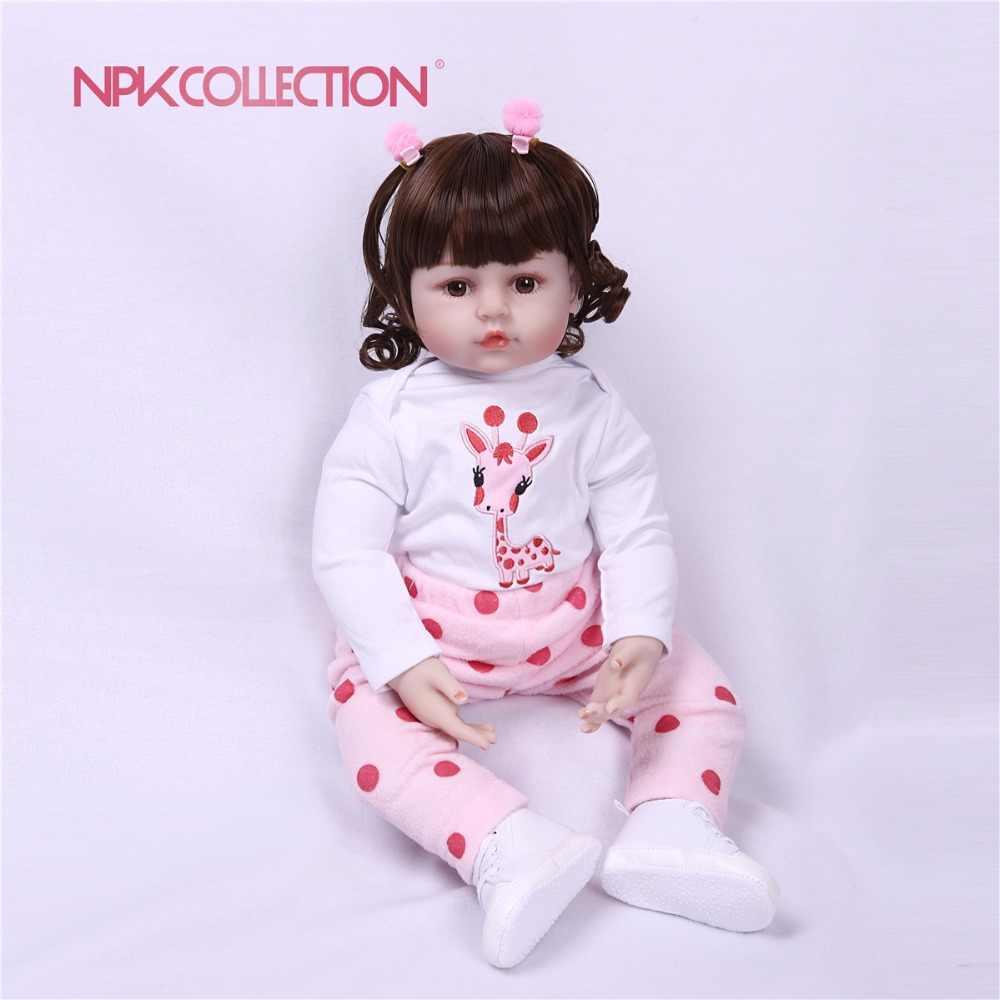 Giraff bebes Reborn 60/48 см обе руки Открыть Мягкая тела силиконовый виниловых кукол Reborn Baby Doll малышей Реалистичного кукла-реборн для малышей