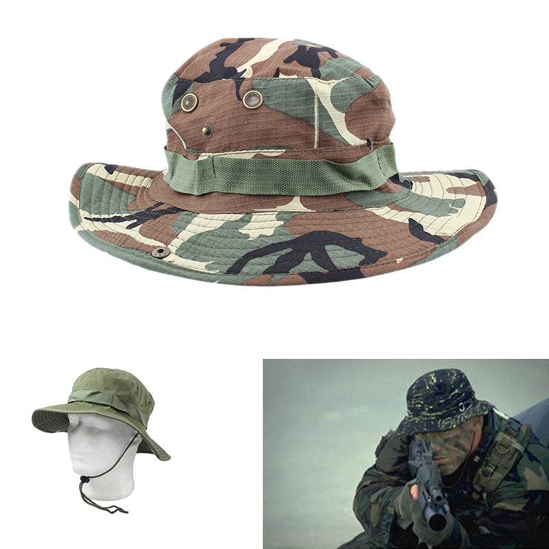Bucket Boonie Hat Military Hunting Fishing Camouflage Cap Hiking Climbing Travleing Hat Men Women Outdoor