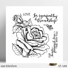 ZhuoAng Rose Flowers Leaves Bud Clear Stamps/Seals For DIY Scrapbooking/Card Making/Album Decorative Silicon Stamp Crafts