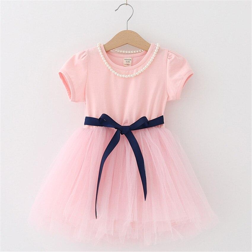 2-8 letnia letnia sukienka dla dziewczynki dzieci księżniczka - Ubrania dziecięce - Zdjęcie 3