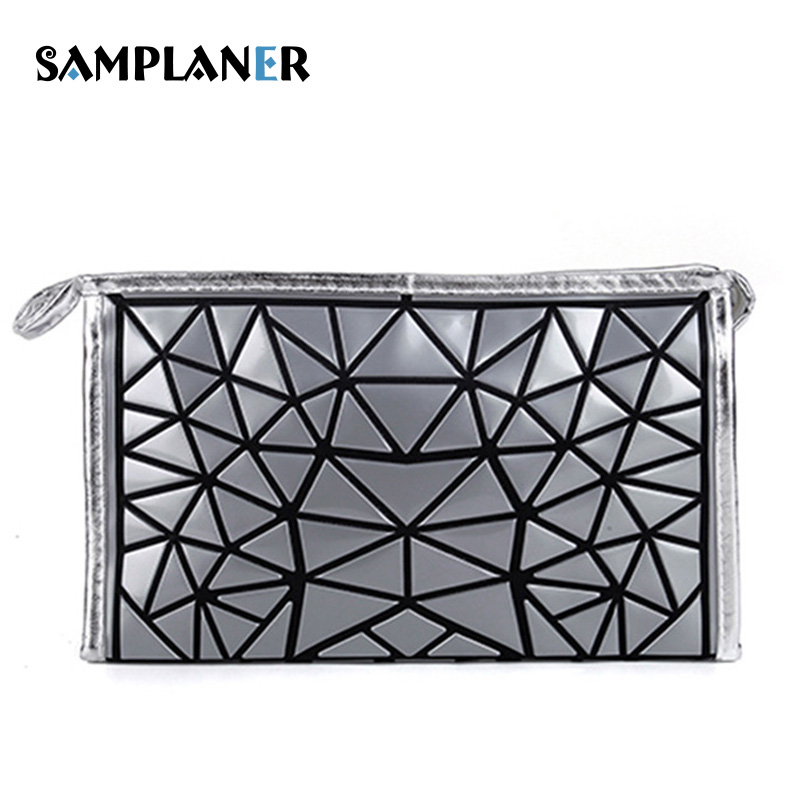 Samplaner Geometric Makeup Bags Women Cosmetic Bag Flash Diamond Beauty Cases Necessary  ...