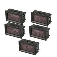5PCS 5 100V 2 Wire mini LED Digital Display Panel Battery Voltmeter Electric Voltage Meter Mini Volt Tester for Car Motorcycle