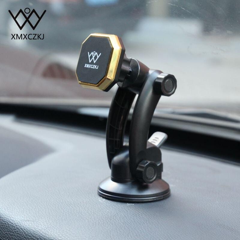 XMXCZKJ Universal Auto Windschutzscheibe Magnetische Handy Halter Stand Strong Saug Halterung Für Auto Smartphone GPS