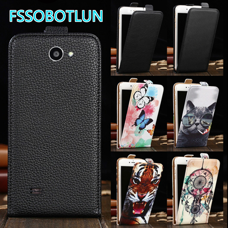 Factory direct! For Fly IQ447 Era Life 1 Cartoon Painting vertical phone cover bag flip up and down PU Leather Case