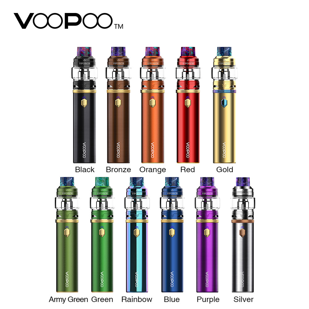 Original VOOPOO Kaliber 110 watt Kit Integrierte 3000 mah Batterie 5 ml Kapazität mit GEN. fan Chipsatz & UFORCE Tank Elektronische Zigarette