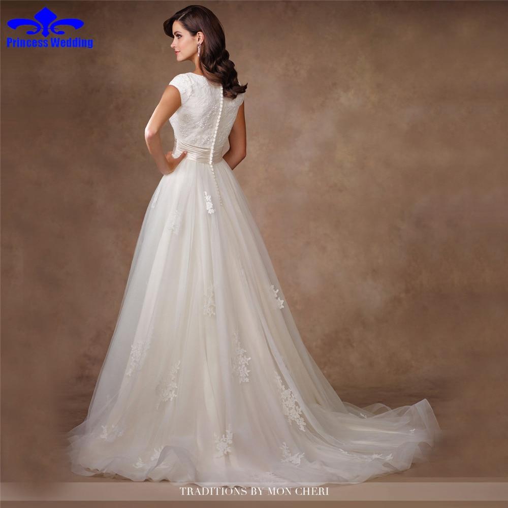 Fantastisch Kappenhülsenspitze Hochzeitskleid Fotos - Brautkleider ...