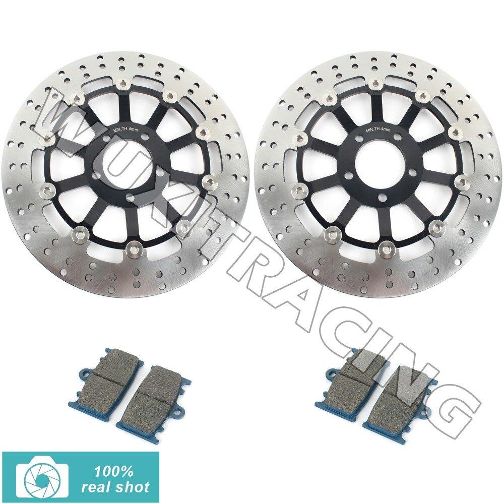 Черный передние тормозные диски ротора колодки для КР-1С 250 крон 90 91 92 модель 400 ЗЗ-Р СЗР 400 600 90-07 на ZX-6р ГПЗ ниндзя запросу zx6r 95 96 97 900 р