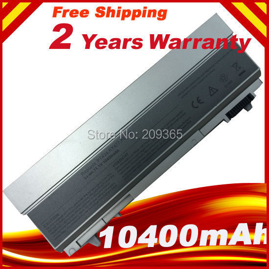 10400mAh 12 CELLS laptop battery for dell Latitude E6400 E6410 E6500 E6510 laptop top cover for dell latitude e6400 with hinges black dp n mt649 wt197