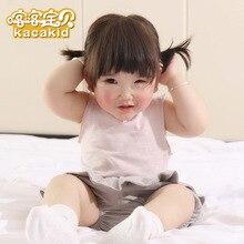 Kacakid Summer cute baby girls Tees sleeveless shirt kids cotton T-shirt children tops