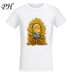 Ph 2016 new arrival cool deadpool minions on the iron throne t shirt game of thrones.jpg 250x250