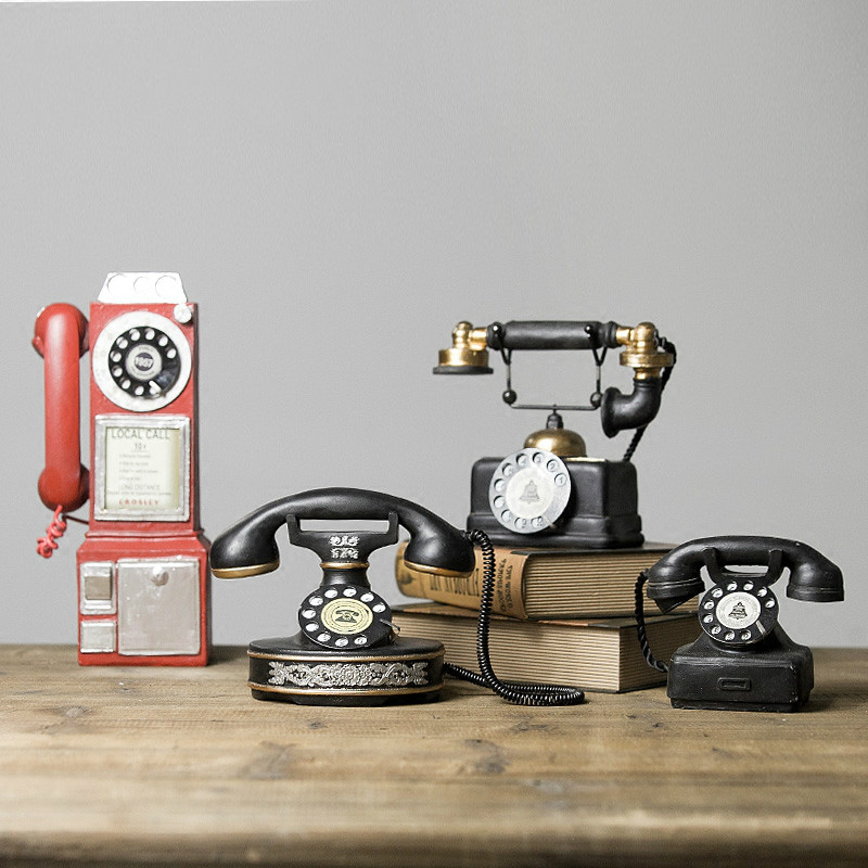 Continental Retro Do Old Bar Cafe Shop Restaurant Telephone Soft Outfit Decor Model Home Furnishing Small Ornaments
