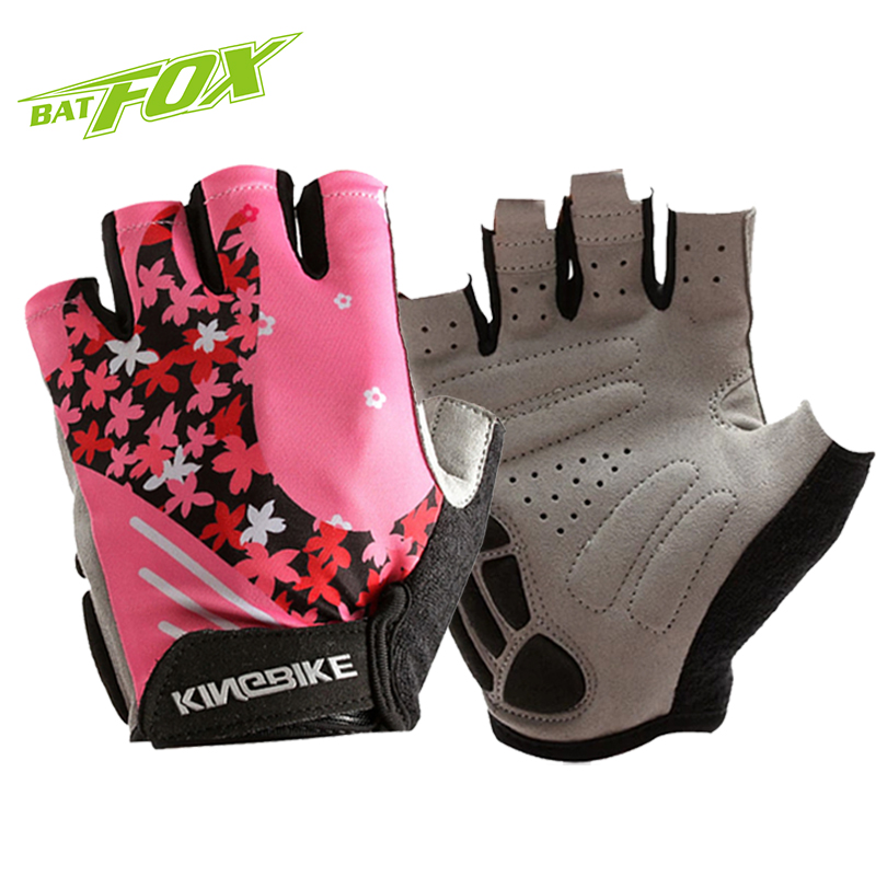BATFOX 2017 Bike Cycling Gloves Woman Half Finger Bike Gloves MTB Guantes Ciclismo Sport Breathable Bicycle Gloves Luva Ciclismo
