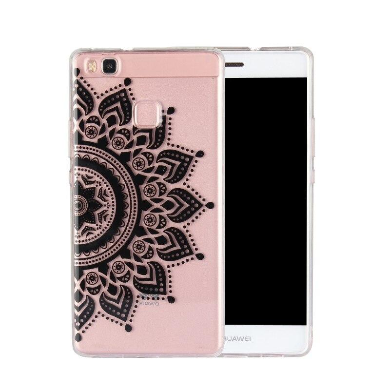TPU Copue For Huawei P9 Lite Cases Mandala Flower Silicon Cover Mobile Phone Housing Carcasa Etui Fundas Capa For HuaweiP9 Lite