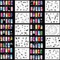 OPHIR Set12 200 Дизайн Аэрограф Ногтей Трафареты 20 Листов Шаблонов Комплект Щетки Краски Наклейки & Переводные Картинки Для Ногтей Инструменты _ JFH12
