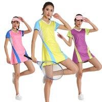 Summer Dresses Tennis Badminton Quick Dry Breathable Culottes Tennis Dress Sportswear