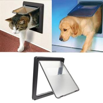 1pcs Pet Puppy Dog Purp Pup Cat Felis Animals Doghole Dog-Tunnel Flap Entry Frame Safe Gate Door Cathole