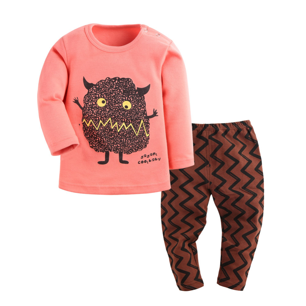 Baby Pajamas Babies Clothes Set Little Kids Monster